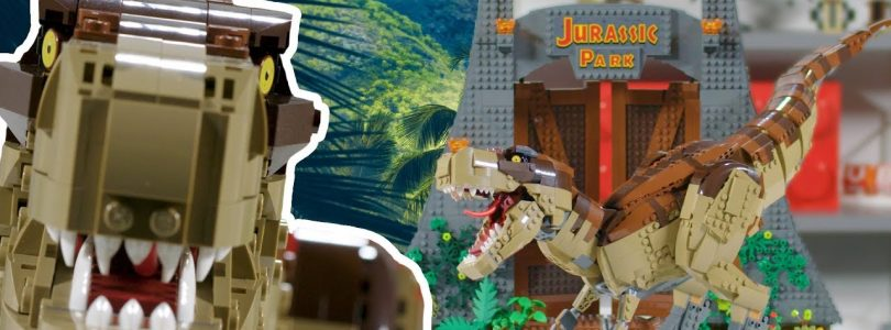 Zo is de LEGO Jurassic World 75936 Jurassic Park T. rex Rampage-set ontworpen