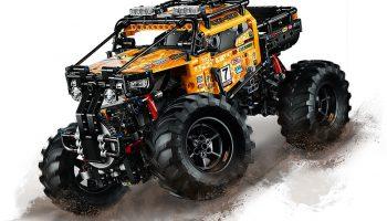 Nieuwe afbeeldingen en video van LEGO 42099 RC X-treme Off-roader en 42098 Car Transporter