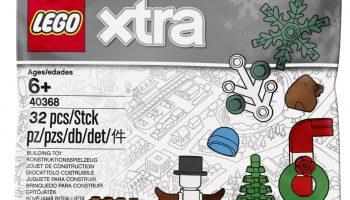 LEGO Xtra 40368 Christmas Accessories bestaat uit 32 onderdelen