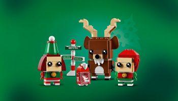 LEGO BrickHeadz 40353 Reindeer, Elf en Elfie verschijnt op 1 oktober