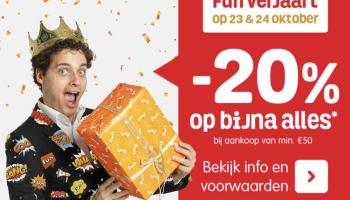 Nu beschikbaar | 20% korting op bijna alles bij Fun.be, waaronder LEGO – Gratis bezorging in Nederland en België
