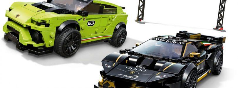 Nieuwe beelden LEGO Speed Champions 76899 Huracán Super Trofeo EVO/Urus ST-X en 76898 Formula E Panasonic Jaguar Racing GEN 2 car/I-PACE eTROPHY gepubliceerd