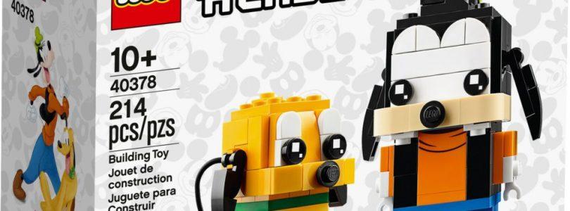 LEGO BrickHeadz 40377 Donald Duck en 40378 Goofy & Pluto nu uit voorraad leverbaar