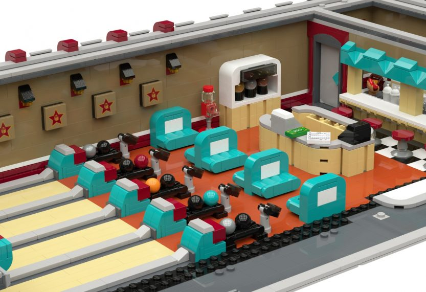 LEGO Ideas-project Retro Bowling Alley bereikt mijlpaal van 10.000 stemmen