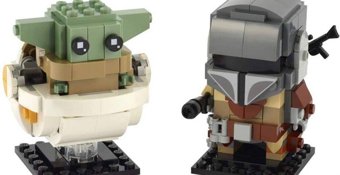 Eerste afbeelding van LEGO BrickHeadz 75317 The Mandalorian en Baby Yoda