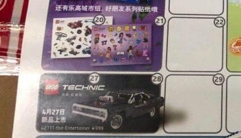 LEGO Technic 42111 The Fast & Furious – Dodge Charger verschijnt op 27 april