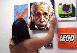 Project Zebra is LEGO Wall Art: wanddecoratie van LEGO-stenen