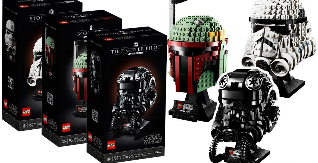 LEGO Star Wars Helmet Collection nu beschikbaar voor pre-order (75274, 75276, 75277)
