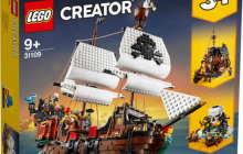 Dit is LEGO Creator 31109 Pirate Ship, release in zomer