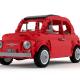 Creëer je eigen rode LEGO Fiat 500 F door middel van deze gratis bouwinstructies