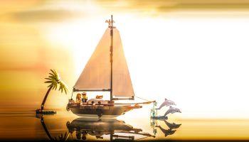 LEGO 40487 Dream Holiday Sailboat verschijnt op 1 augustus als cadeau bij aankoop