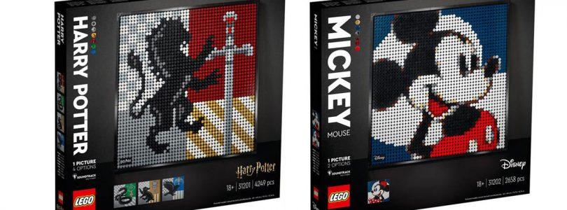 LEGO Art in 2021: eerste beelden van Harry Potter en Mickey & Minnie