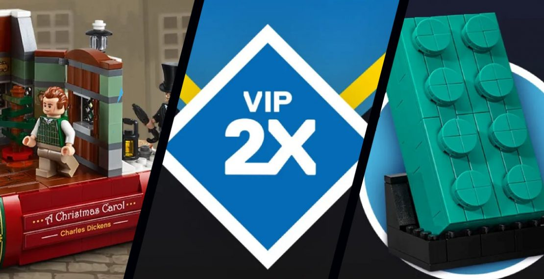 LEGO Black Friday 2020: VIP-weekend met dubbele VIP-punten, Charles Dickens Tribute GWP (40410) en Teal Brick GWP (5006291)