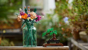 LEGO 10280 Bloemboeket en 10281 Bonsai boom met korting uit voorraad leverbaar