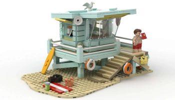 Lifeguard's Shack bereikt 10.000 stemmen op LEGO Ideas