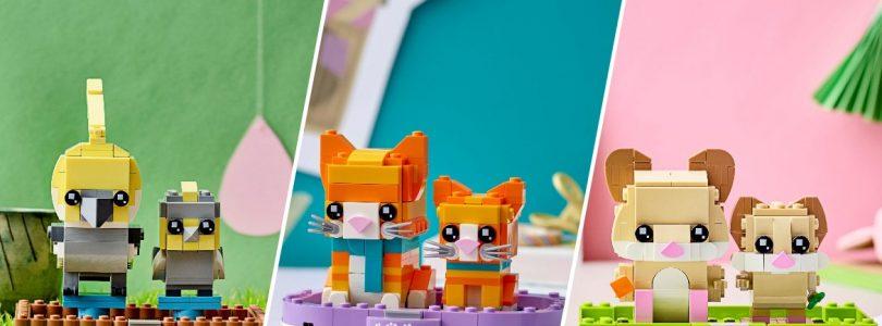 Drie nieuwe LEGO BrickHeadz-dieren vanaf 1 augustus verkrijgbaar