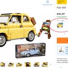 LEGO gaat sets in meerdere kleuren aanbieden: lichtblauwe LEGO 77942 Fiat 500 in aantocht